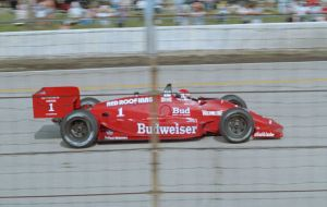 Bobby Rahal, at the Milwaukee Mile in 1987.